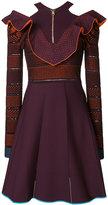 Versace V Ruffle knit dress - women - Polyamide/Polyester/Spandex/Elastane/Viscose - 38