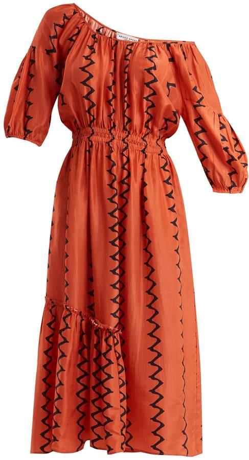 Apiece Apart Camelia one-shoulder silk dress