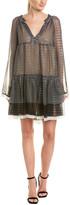 Stella McCartney Printed Silk-Blend Shift Dress