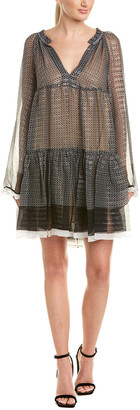 Stella McCartney Printed Silk-Blend Shift Dress