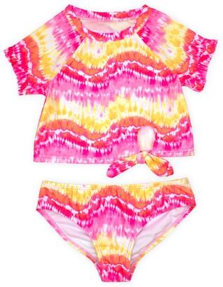 Kate Mack Tie Dye Two-Piece Rashguard Swimsuit