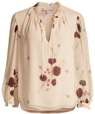 Joie Rafaella Floral Silk Blouse