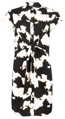 Dorothy Perkins Womens Black Cow Print Shirt Dress, Black
