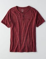 American Eagle AEO Short-Sleeve Henley T-Shirt