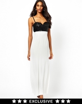 Elise Ryan Maxi Dress with Sequin Bust - Multi