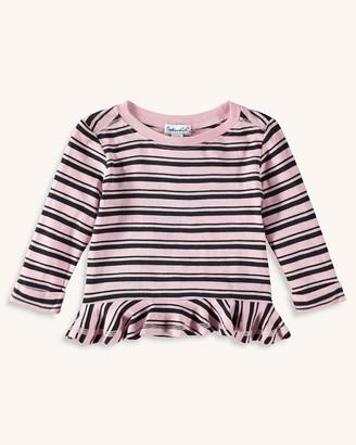 Splendid Baby Girl Stripe Tee with Ruffle