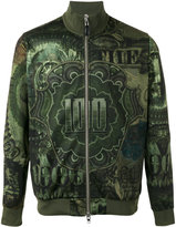 Givenchy dollar print bomber jacket - men - Polyester - S