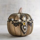 Pier 1 Imports Metallic Pumpkin with Lace and Jewels