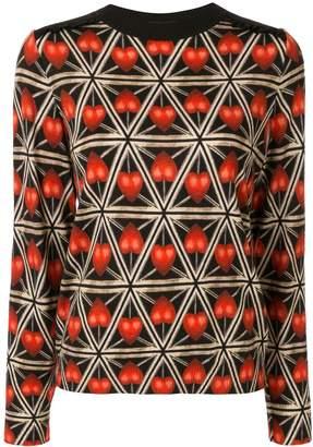 Undercover heart geometric print sweater