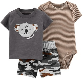 Carter's Baby Boy 3-Piece Koala Top, Bodysuit and Little Shorts Set