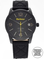 Barbour Men's Alanby Stitch Fabric Strap Watch