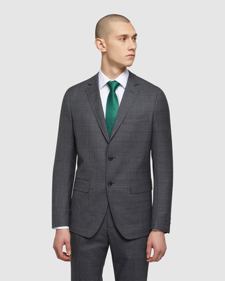 Oxford Men's Suits - Auden Wool Checked Suit Jacket - Size One Size, 92 at The Iconic