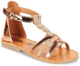 Citrouille et Compagnie GITANOLO girls's Sandals in Beige