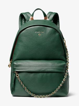 Michael Kors Slater Large Pebbled Leather Backpack