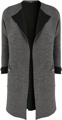 Evans Grey Button Detail Coatigan