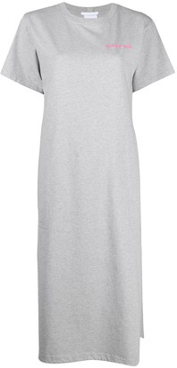 Helmut Lang logo print T-shirt dress