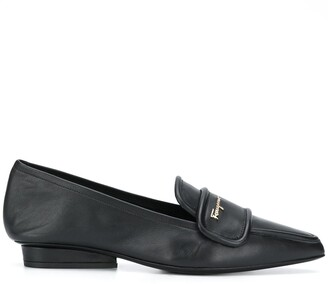 Salvatore Ferragamo Pointed Leather Loafers