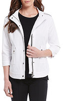 Misook Woven Stand Up Collar Jacket