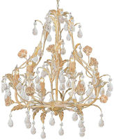 Crystorama Duchess 6-Light Chandelier, Champagne