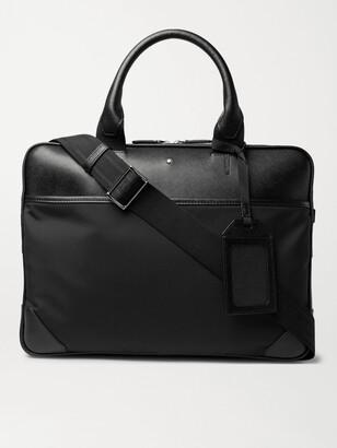 Montblanc Sartorial Jet Nylon-Panelled Cross-Grain Leather Briefcase - Men - Black
