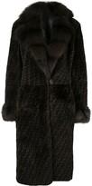 Reversible Long Sleeve Fur Coat