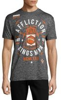 Affliction Cotton-Blend Printed Tee