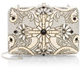 Judith Leiber Couture Slim Slide Pearly Cross Crystal Clutch