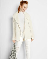 Express hooded sweater coat