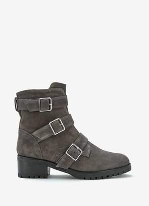 Mint Velvet Abigail Grey Suede Boots