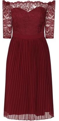 Dorothy Perkins Womens Chi Chi London Red 'Marisol' Bardot Dress, Red