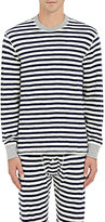 Sleepy Jones Men's Keith Striped Cotton Shirt-NAVY