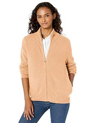 Daily Ritual Cozy Boucle Zip-front Cardigan SweaterMedium
