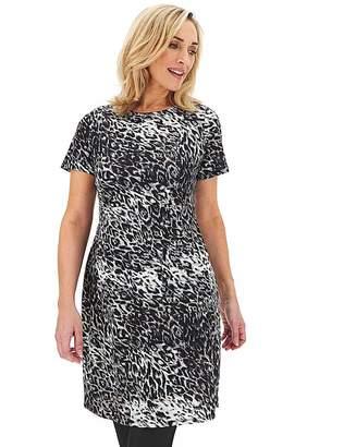Capsule Leopard Ponte Pocket Shift Dress