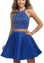 Yxjdress Women's Bling Cocktail Dresses Short Homecoming Dresses Two Piece