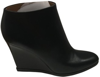 Celine Navy Leather Ankle boots