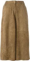 Desa 1972 - cropped pants - women - Suede - 36