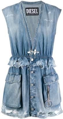 Diesel sleeveless denim mini dress