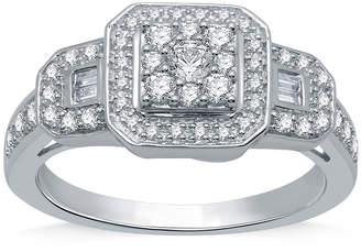 I Said Yes I Said Yes Womens 1/2 CT. T.W. Genuine White Diamond Sterling Silver Engagement Ring
