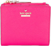 Kate Spade logo plaque wallet - women - Leather/Polyester/Polyurethane - One Size