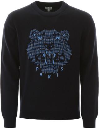 Kenzo Tiger Graphic Print Sweater