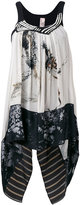Antonio Marras printed draped top - women - Cotton/Polyester/Viscose - 44