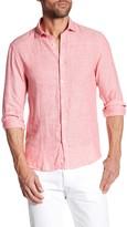 Scotch & Soda Salmon Linen Dress Shirt