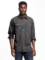 Old Navy Regular-Fit Garment-Dyed Shirt Jacket For Men