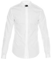 Valentino Leather Neck-strap Cotton-poplin Shirt