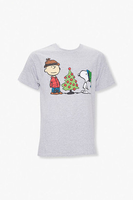 Forever 21 Peanuts Christmas Graphic Tee