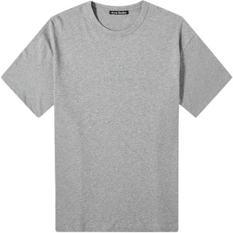 Acne Studios Reflective Logo Face T-shirt Light Grey Melange