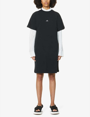 Won Hundred Brooklyn logo-embroidered organic cotton-jersey mini dress
