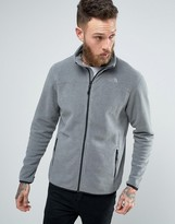 The North Face 100 Glacier Sweat Full Zip In Mid Grey Heather