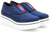 Stella McCartney Binx denim slip-on platform sneakers