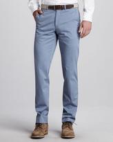 Ermenegildo Zegna Flat-Front Cotton Trousers